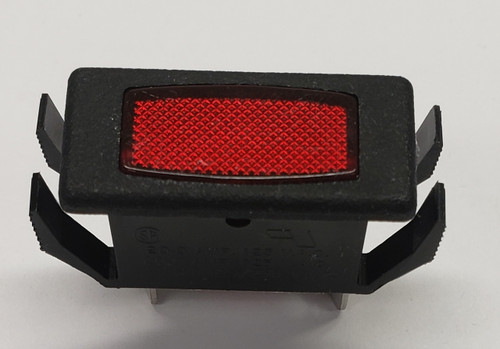 rectangular light, indicator light, 12 volt red, square light, oslo, crs0, 12 volt rectangular indicator, CRS0A12VR1M9, red led, rectangular led indicator