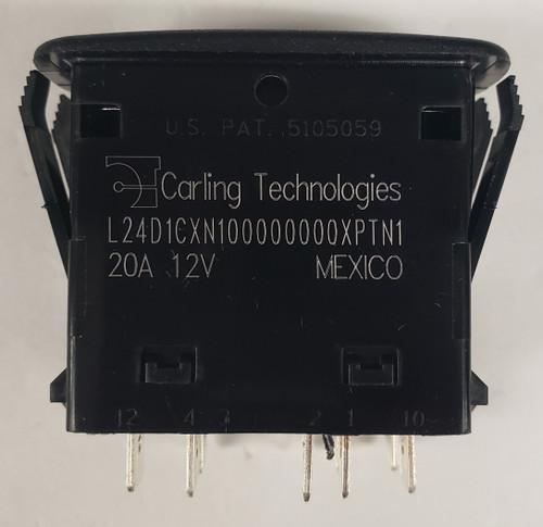 L24D1CXN1, carling, l series, dpdt, rocker switch, 2 position, on-on, 2 leds