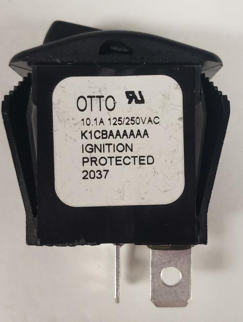 Otto, sealed rocker switch, on off, K1 series, single pole, K1CBAAAAAA, spst, rocker,