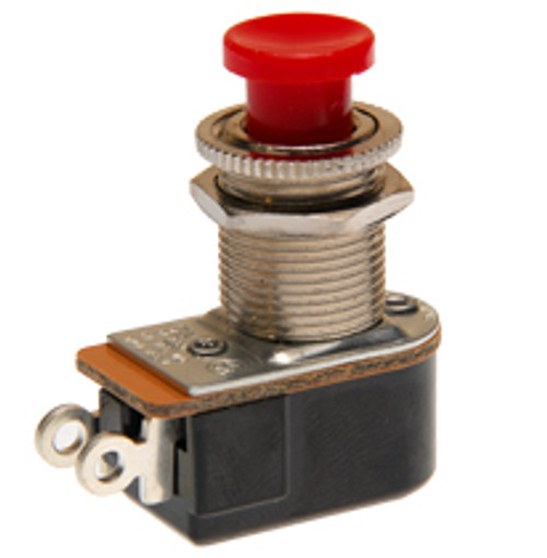 push button switch, momentary on, off, solder terminals, red button, Carling, P27A-RD,026-01026000,193948,1157-A,80541-ER,NS103690,SEP7155