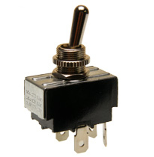 toggle switch, momentary on off, spade terminals, dpst, 20 amps, 1183-Q/20