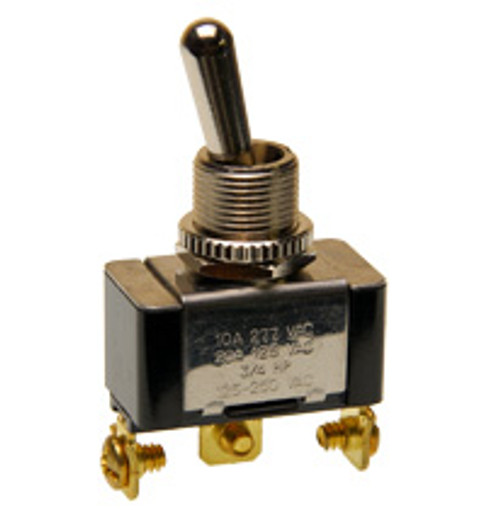 single pole on-on toggle switch, screw terminals, 7802k33