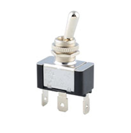 single pole on-on toggle switch, quick connect terminals