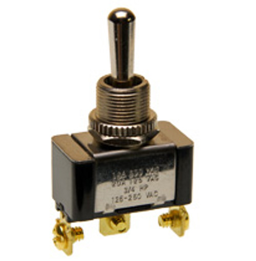 single pole on-off-on toggle switch, screw terminals, 7802k32