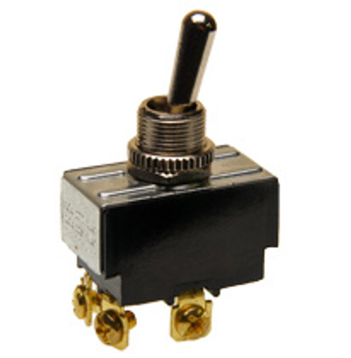 double pole on-off toggle switch, screw terminals, 7803k31
