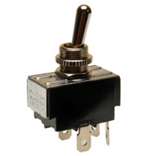 double pole on-off toggle switch, quick connect terminals, 7803k21