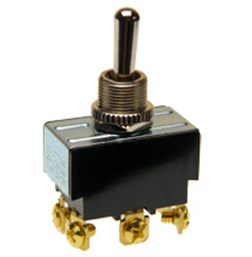 Double pole toggle switch, on-off-on, screw terminals, 7803k32