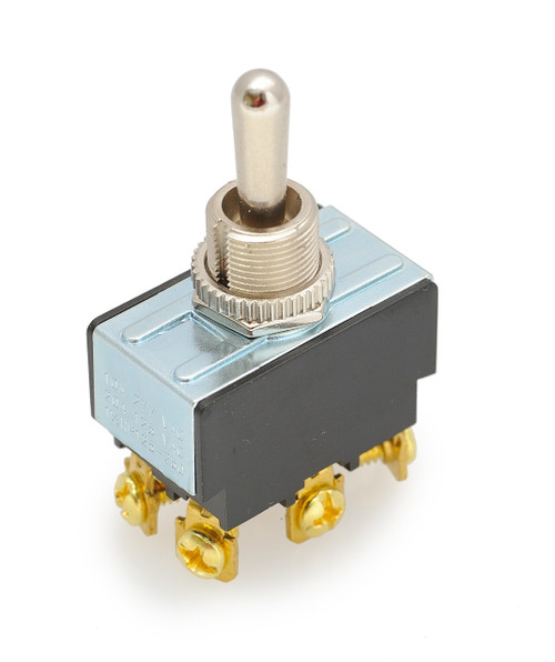 toggle switch, double pole, screw terminals, double momentary, 7803k37