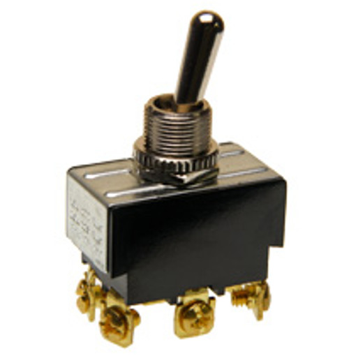 Double pole on-on toggle switch, screw terminals, 7803k33