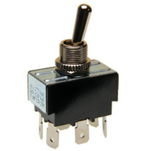 Double pole on-on toggle switch, quick connect terminals, 7803k23