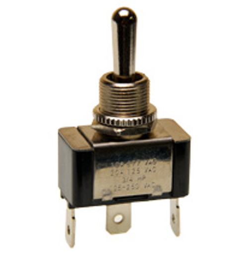 single pole momentary toggle switch, two momentary positions, bat handle,