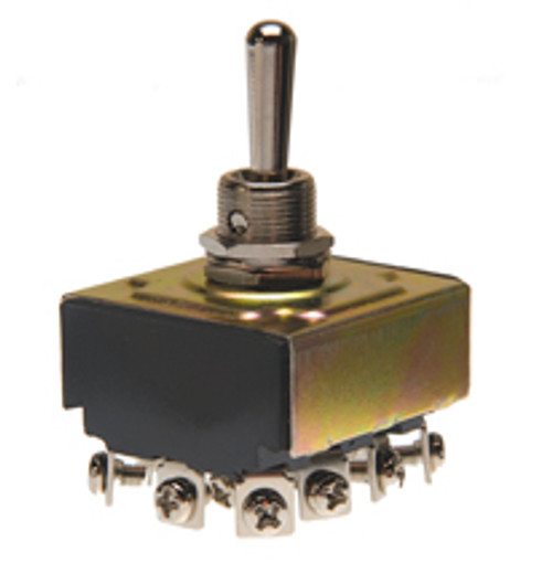 toggle switch, 4 pole, on off on, screw terminals