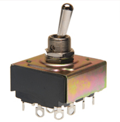 toggle switch, 4 pole, on on, solder terminals