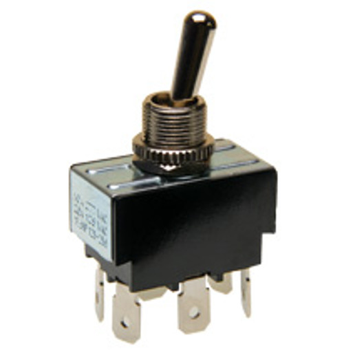 toggle switch, double pole, on - momentary on, quick connect terminals,031-2013,7300029,ie-1125