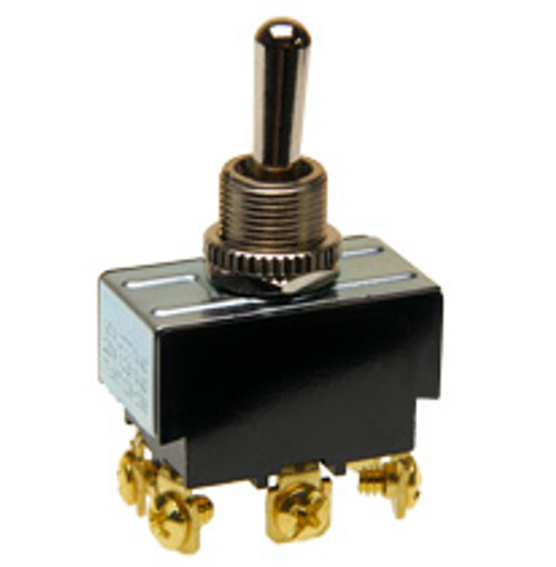 toggle switch, double pole, on - off - momentary on, screw terminals, 1244/20b, 0121-0007, 922119, 6gm5e-73, 7300063, 7568k2