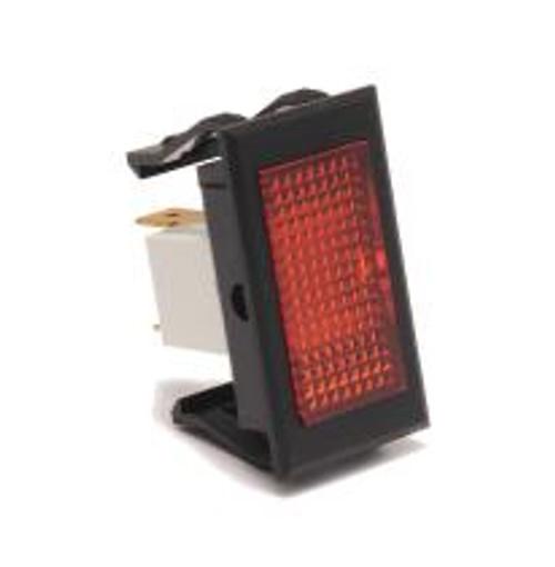 rectangular indicator light, 14 volt, quick connects, single diamond amber lens, 1635-4-05-13320, solico
