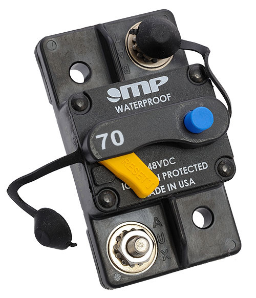 Mechanical Products, Type 3, Manual Reset, 70 amp Breaker, 175-S0-070-2, 7185