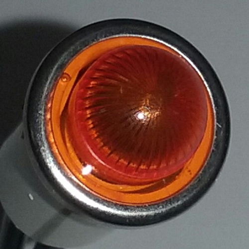 indicator light, 250 volt, neon, amber, Solico, 2952-1-11-40520