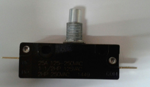 EMB Snap Action Switch 303-9069, normally closed, short plunger, Hawk Enterprises E0007, Mytee Products H167, floor buffer switch