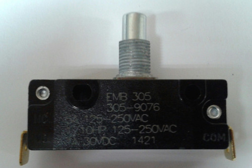 EMB Snap Action Switch 305-9076, 90 degree bent terminals