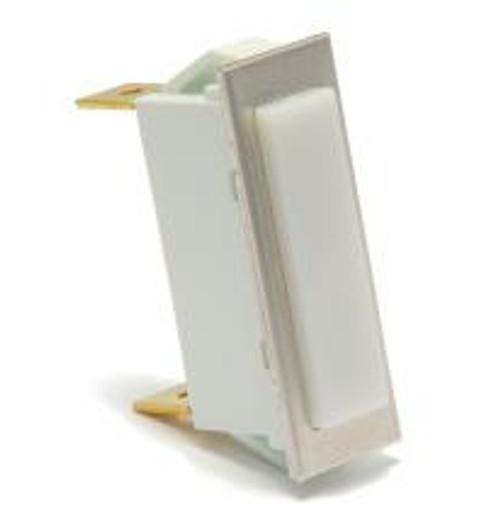 rectangular indicator light, 14 volt incandescent, quick connects, white translucent lens, 3335-4-41-18160,1836005,505182,tp-628a