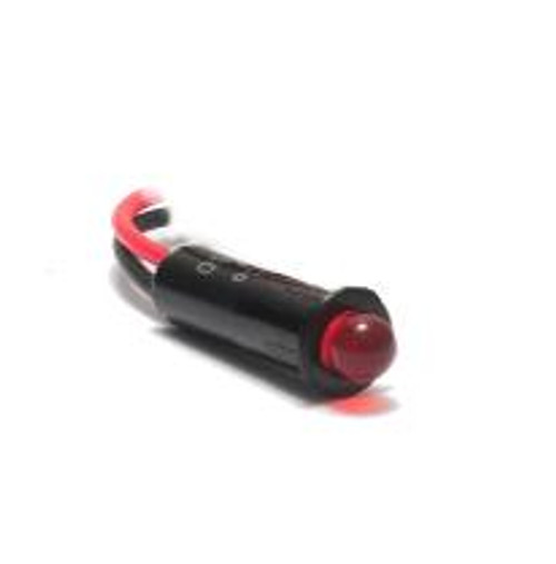 5mm indicator light 14 volt LED, wire leads, red diffused bulb, 4512-1-20-01010