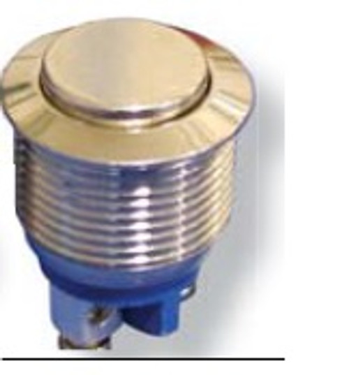 CIT Anti Vandal push button switch, 19 mm, screw terminals, momentary, IP65, sealed, BH19NRSZX, raised button,