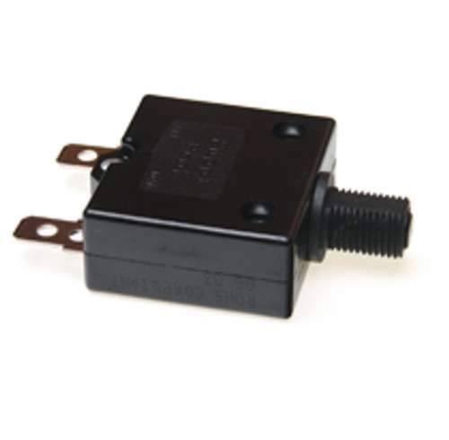 7 amp push to reset circuit breaker, black button, Carling, clb-073-27e3n-b-a