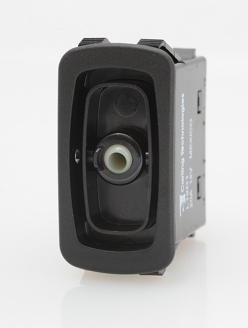 carling, rocker switch, l series, momentary on off, single pole, spade terminals, no lamp, L12D1S001
