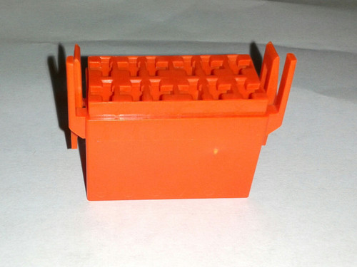 Carling L Series Connector Housing for rocker switch, Orange, LC1-05,cn-12f63nrg