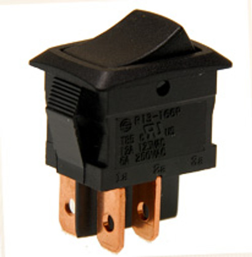 miniature rocker switch, double pole, on off, quick connects, maintained,7500008