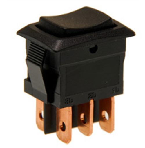 miniature rocker switch, on off on, double pole, quick connects, maintained, spmr89, mini rocker, tiny rocker
