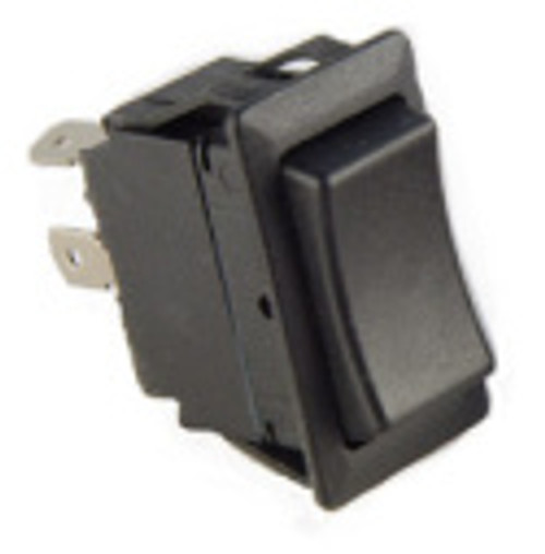 standard rocker, single pole, momentary on, off, quick connect terminals