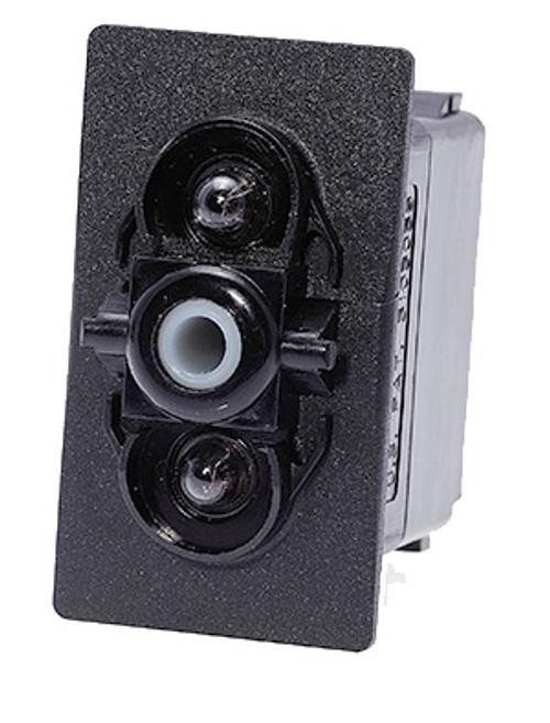 V1D1J66B, switch, marine, auto, rocker, on-off, single pole, sealed, Carling, V Series, two lamps, lit switch,  RCV-00010990