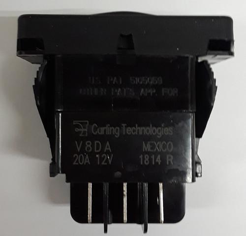 V8DAS001-6ZZXX-1XX-XPC1 Contura XI double momentary rocker switch, Open Close Imprinted On Actuator