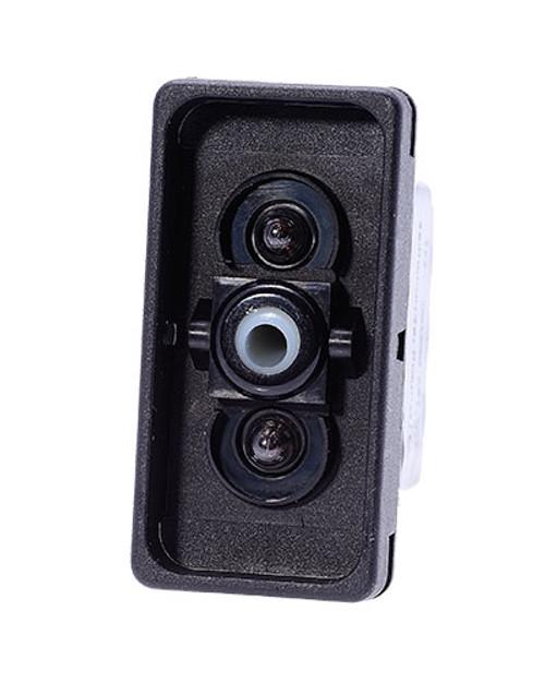 V8D2U661, switch, marine, auto, rocker, double momentary, single pole, sealed, Carling, V Series, 2 independent lamps, raised bracket, 1142695, 19922, 1825-325