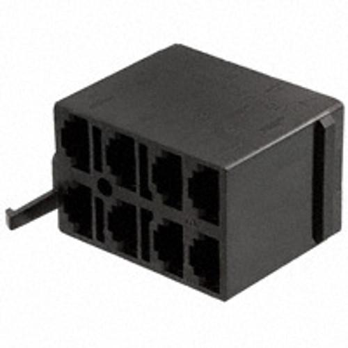 Connector Housing for V Series Rocker, 8 Terminal base, Black, Carling, Contura