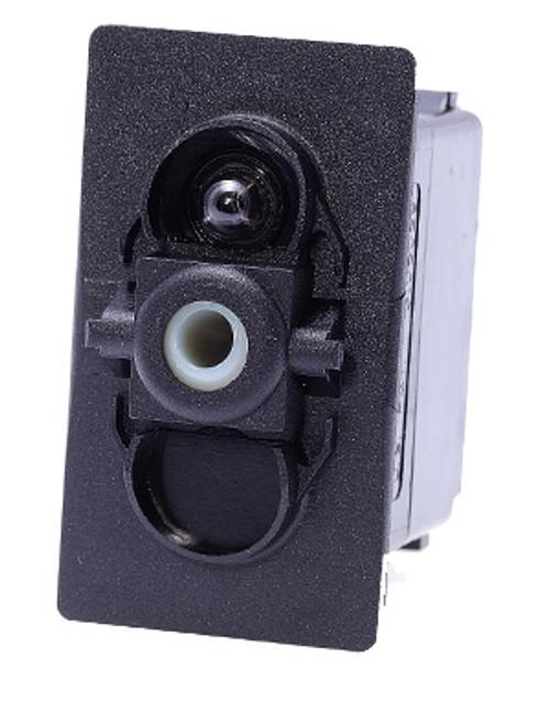 Carling V Series rocker switch single pole,  Circuit 1 & 2 ON, Circuit 1 ON-OFF,  1 dep. lamp, VGD2B60B