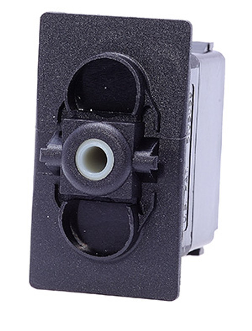 Carling rocker switch, double pole, double momentary, spring return to off position, V Series, no lamps,  VLD1S00B