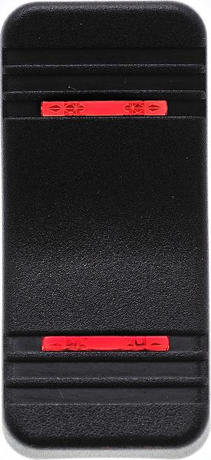 VV1PP00-000 Carling V Series Contura X Actuator, Hard black, two red bar  lens,78882,00001677
