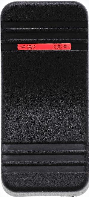 VV1PZ00-000, Carling, hard black actuator, 1 red bar lens, contura X, rocker switch cap,00001678