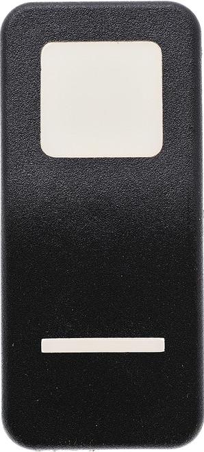 vv69800-000, carling, v series, rocker switch cap, actuator, contura x, 2 white lenses