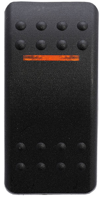 vvabc00-000, carling, v series, switch cap, actuator, contura 2, hard black, single amber lens,464-11061-186