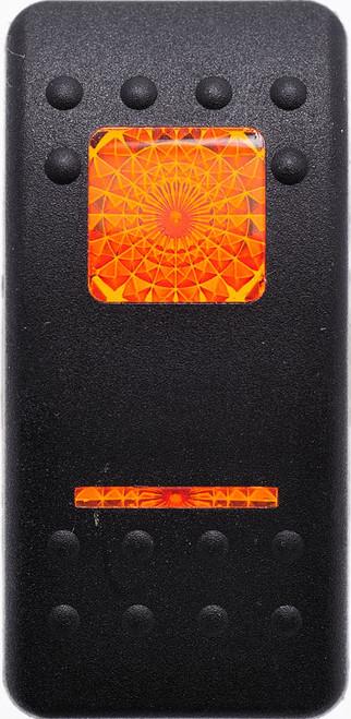 Carling, Contura 2, Hard Black, Actuator, 1 amber bar lens, 1 amber square lens, VVAFC00-000,00017197,31690