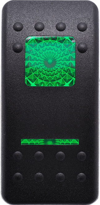 Carling, V series, actuator, switch cap, hard black, 1 green square lens, 1 green bar lens, VVALC00-000, Contura 2,251206,46023615