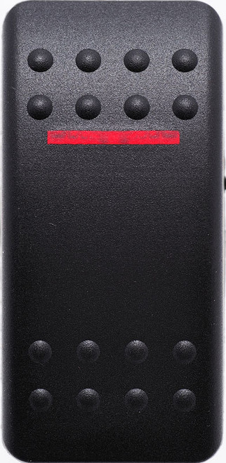 carling, contura 2, rocker switch cap, actuator, VVAMC00-000,  hard black actuator with 1 red bar lens