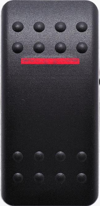 carling, contura 2, rocker switch cap, actuator, VVAMC00-000,  hard black actuator with 1 red bar lens,00001681