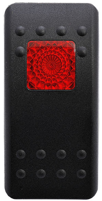 black actuator, switch cap, red square lens, Carling, VVARC00-000,00020181,033-0268,108-0054,20521,251202,763OEMC016,AT44352,JCA-SPST-R,P2120010