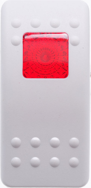 Carling, v series, hard white, 1 red square lens, contura II, switch cap, actuator, VVARY00-000,20526
