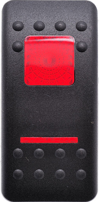 VVASC00-000, Carling v series, rocker switch, actuator, black, 2 red lens, contura 2